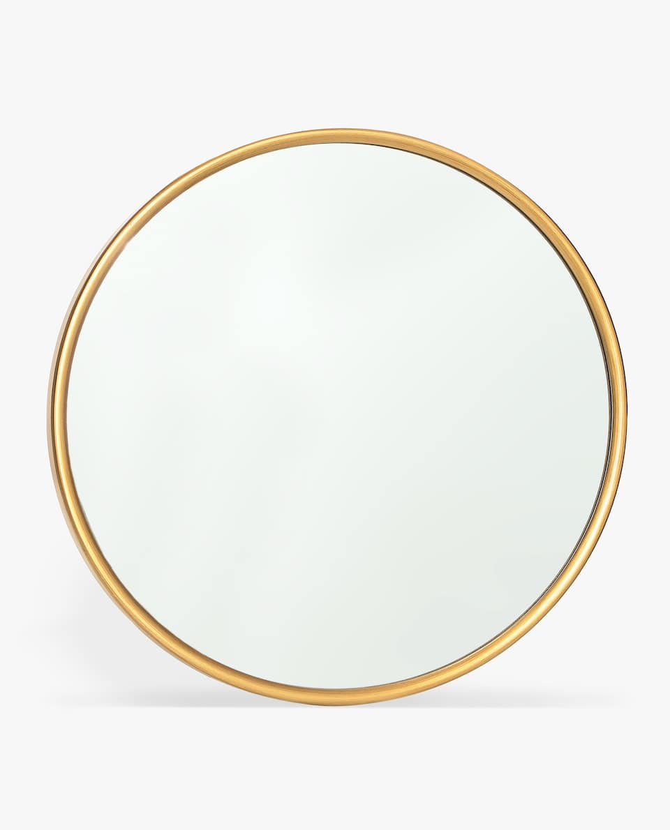 ROUND MIRROR WITH GOLDEN FRAME