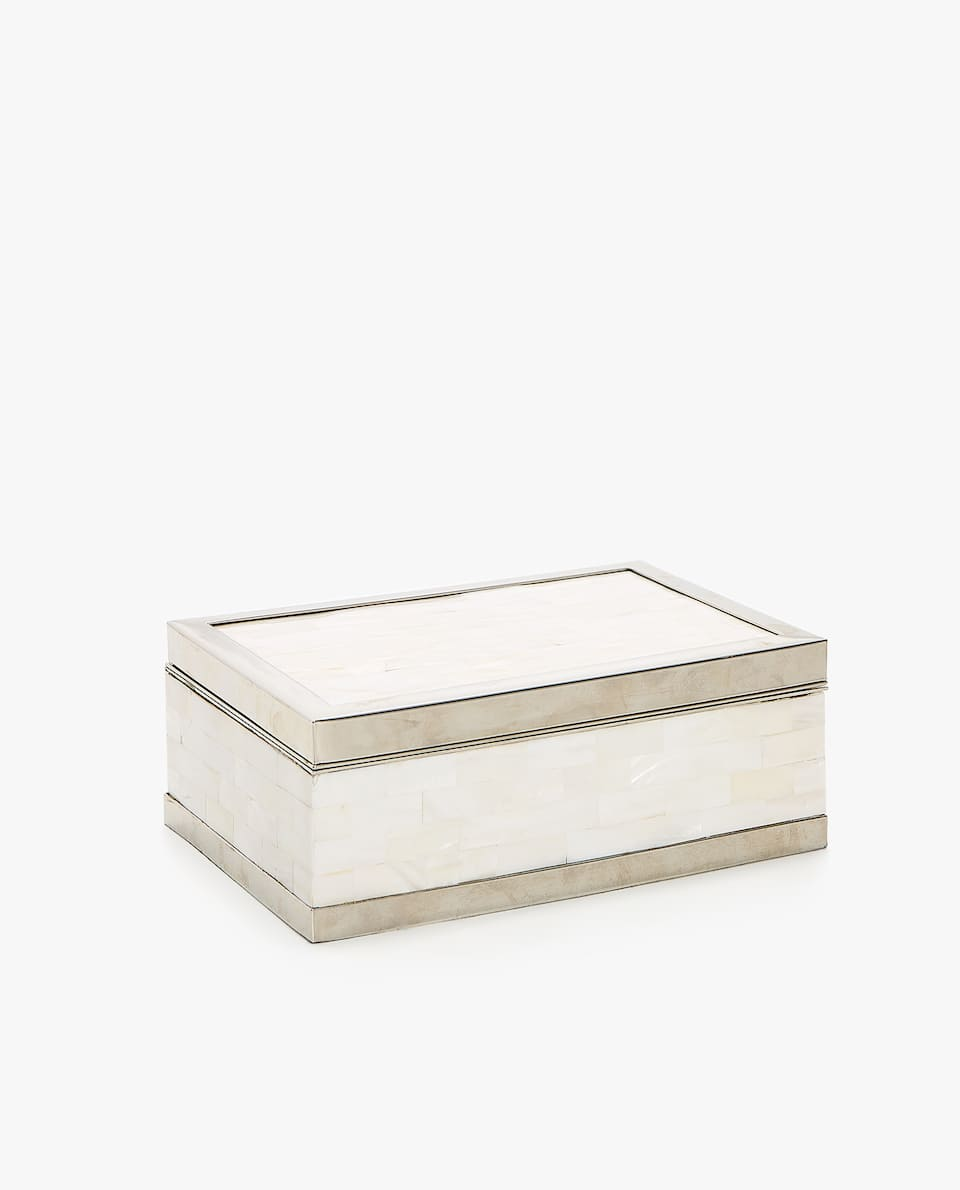 MOTHER-OF-PEARL AND METAL BOX