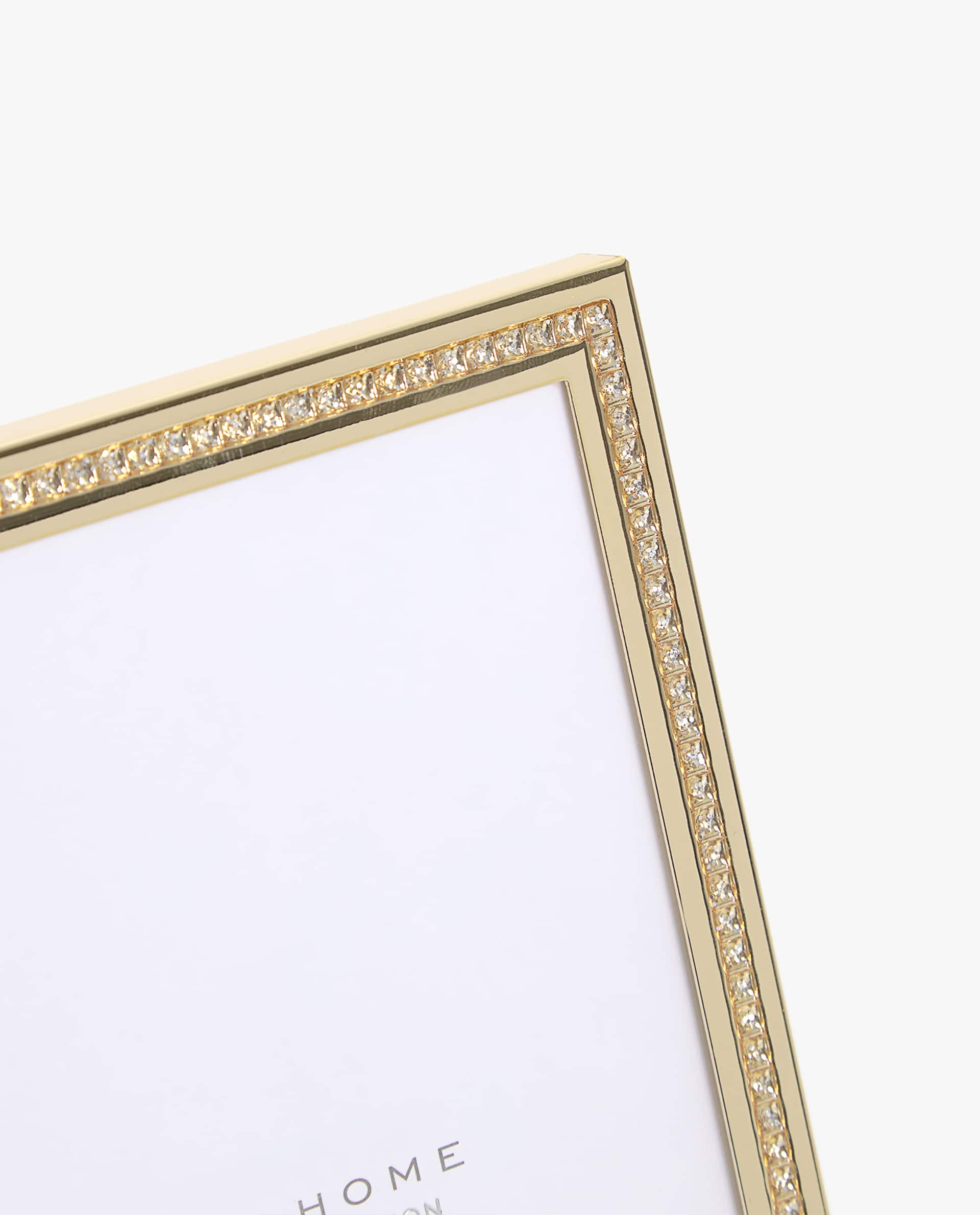 GOLD METAL FRAME WITH RHINESTONES - PHOTO SIZE 4x6 in. - PHOTO ...