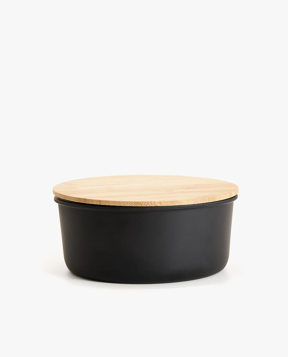 LARGE BAMBOO FIBRE BOWL WITH LID