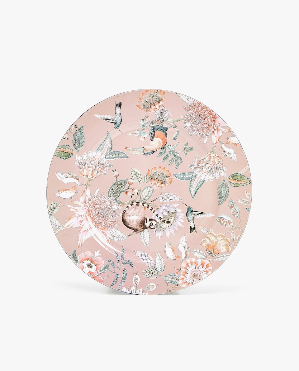 Bandeja Design Floral E Animais by Zara Home