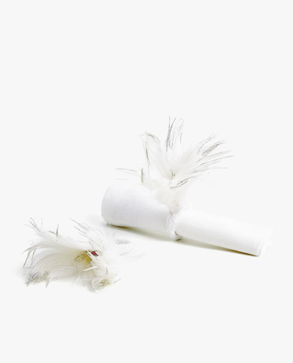 FEATHER NAPKIN RING (PACK OF 2)