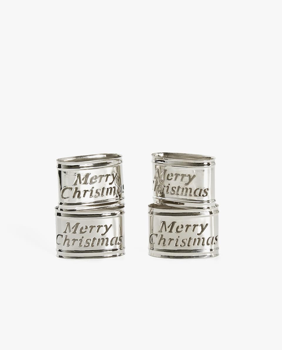 SLOGAN NAPKIN RING (PACK OF 4)