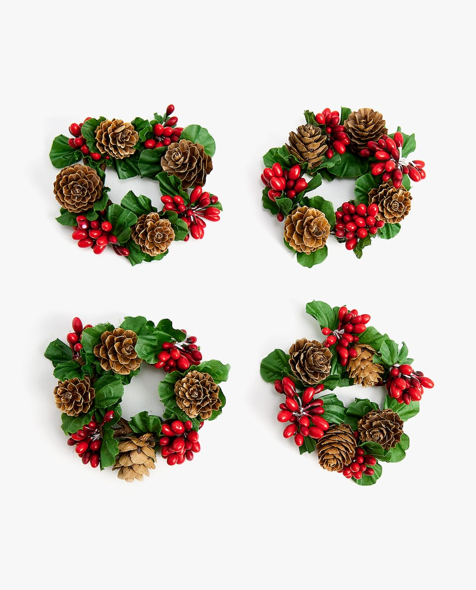 PINE CONE NAPKIN RING (PACK OF 4)