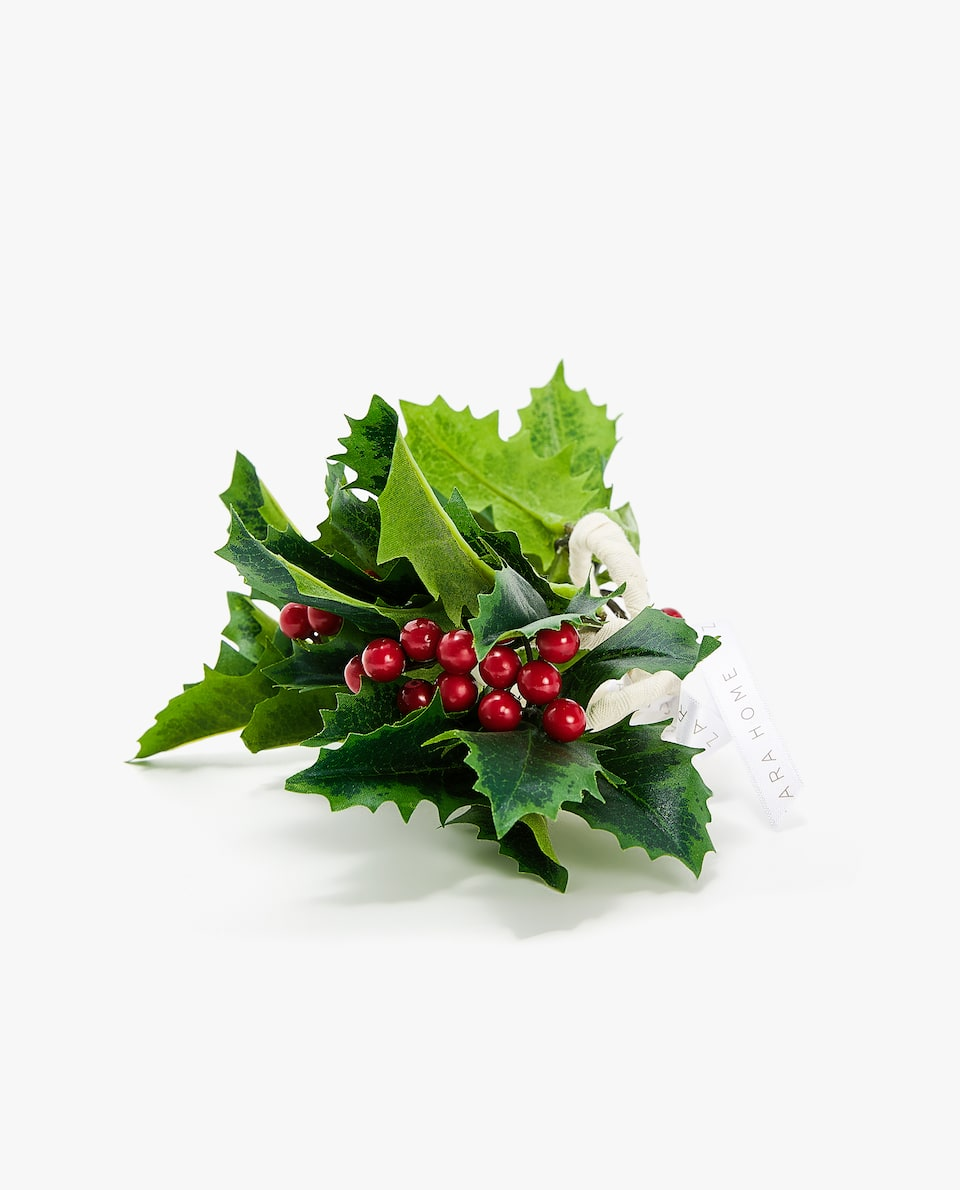 HOLLY NAPKIN RING (PACK OF 4)