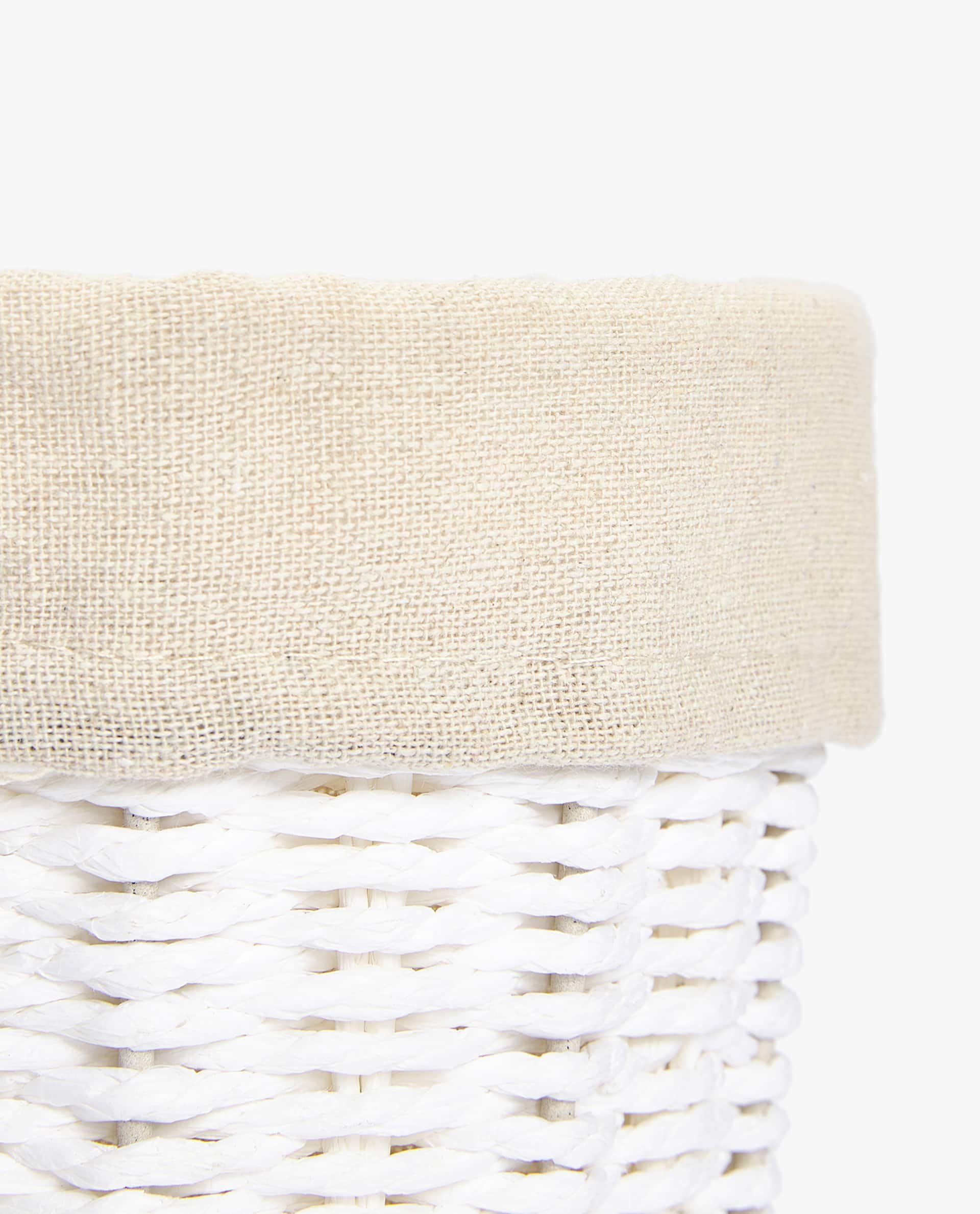 Round Fabric Lined Basket Linen Selection Bedroom Zara Home Image 2 Of The Product