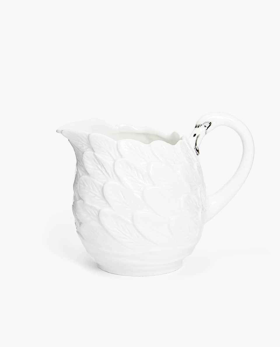 PORCELAIN MILK JUG WITH SILVER DETAIL