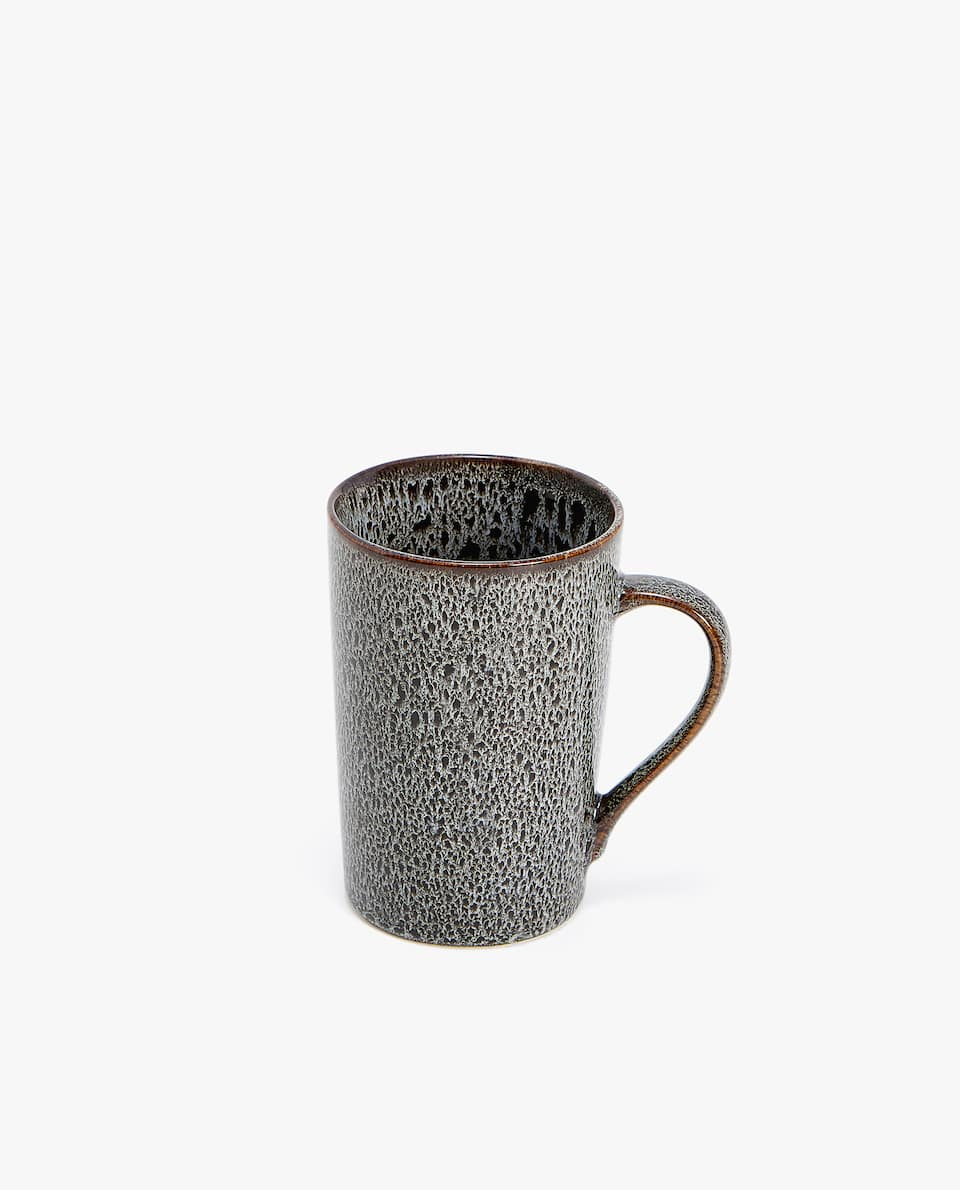 COLOURED STONEWARE MUG