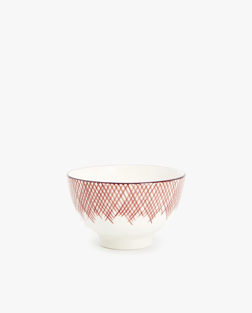 STRIPED PORCELAIN MINI BOWL