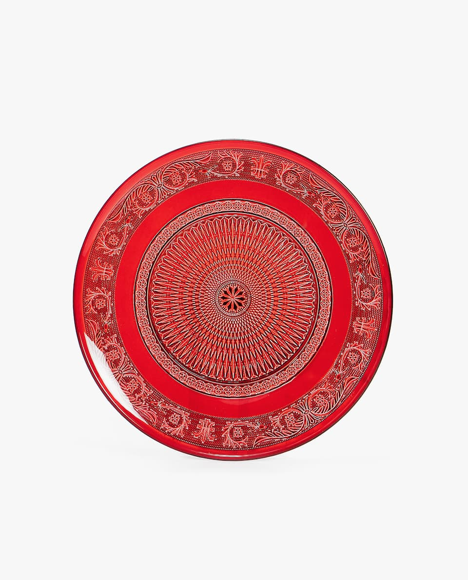 RAISED-DESIGN CHARGER PLATE