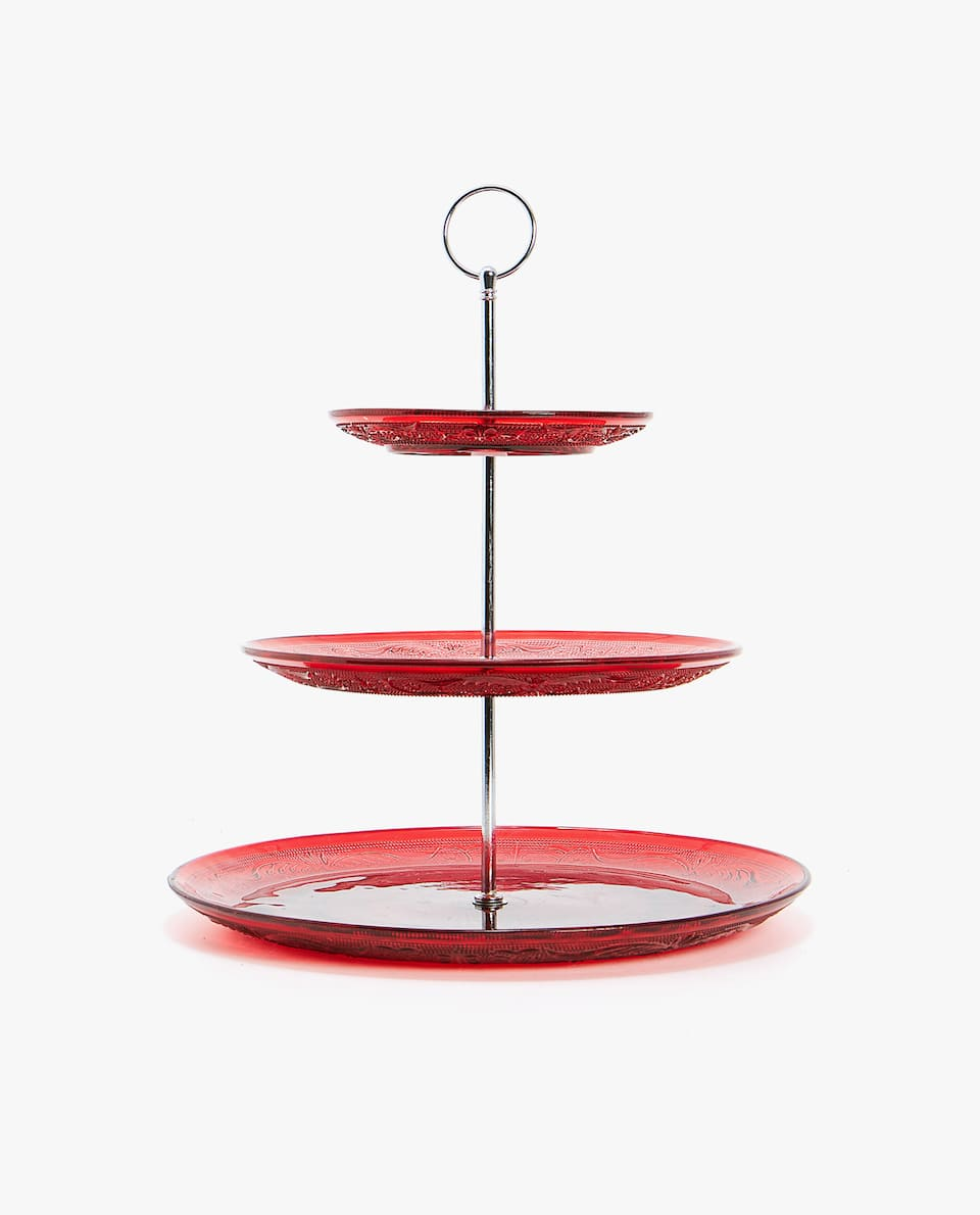 THREE-TIERED SERVING STAND