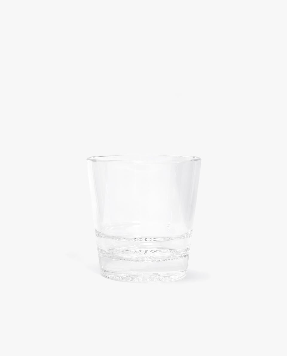 GLASS TUMBLER WITH STAR BASE