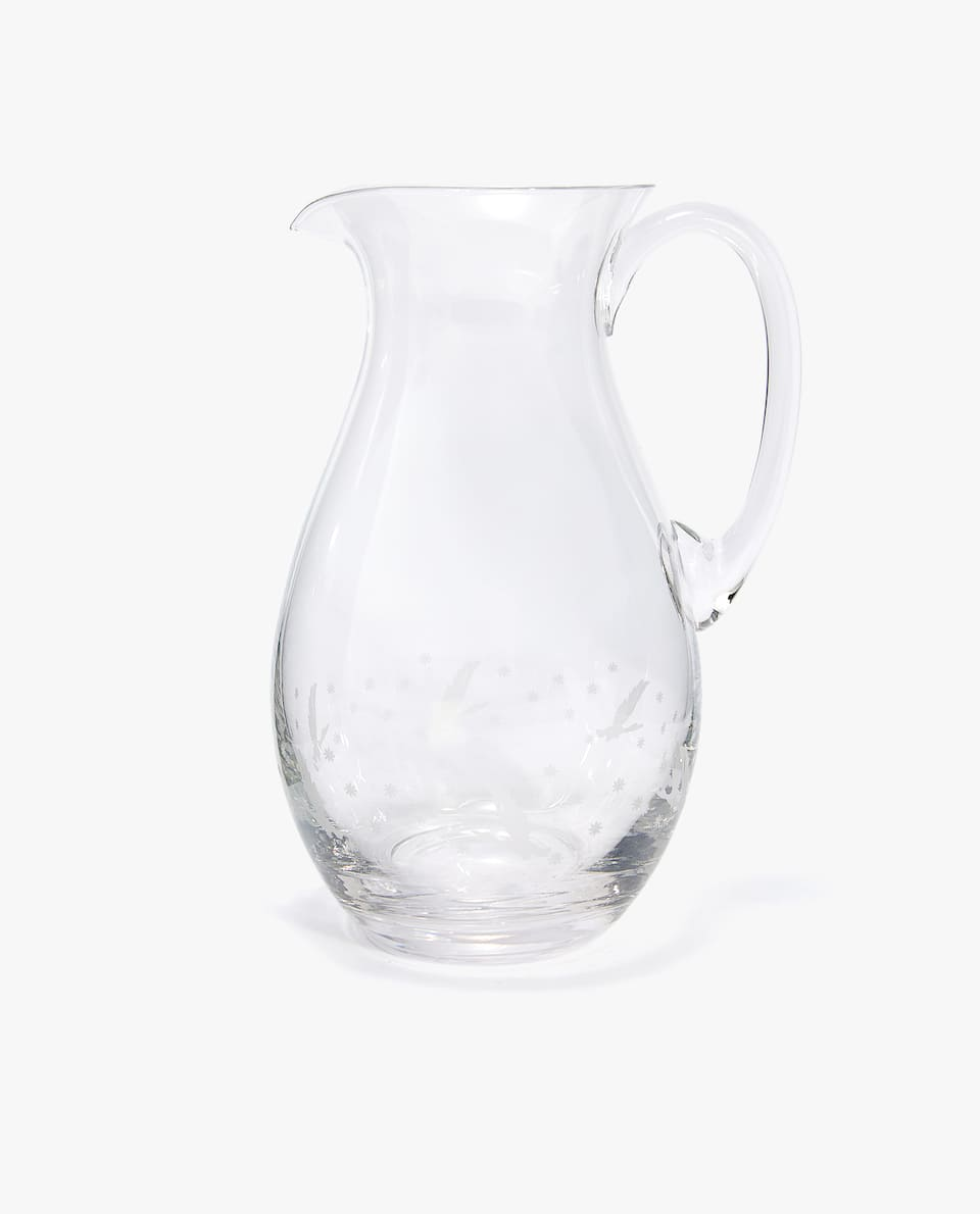 ENGRAVED DUCK PITCHER