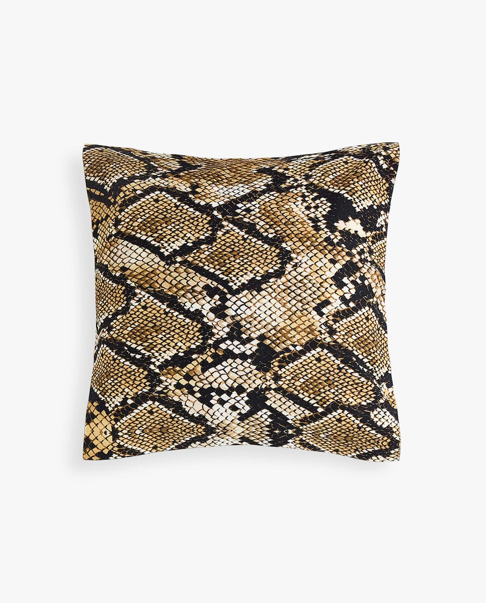 SNAKESKIN PRINT CUSHION COVER