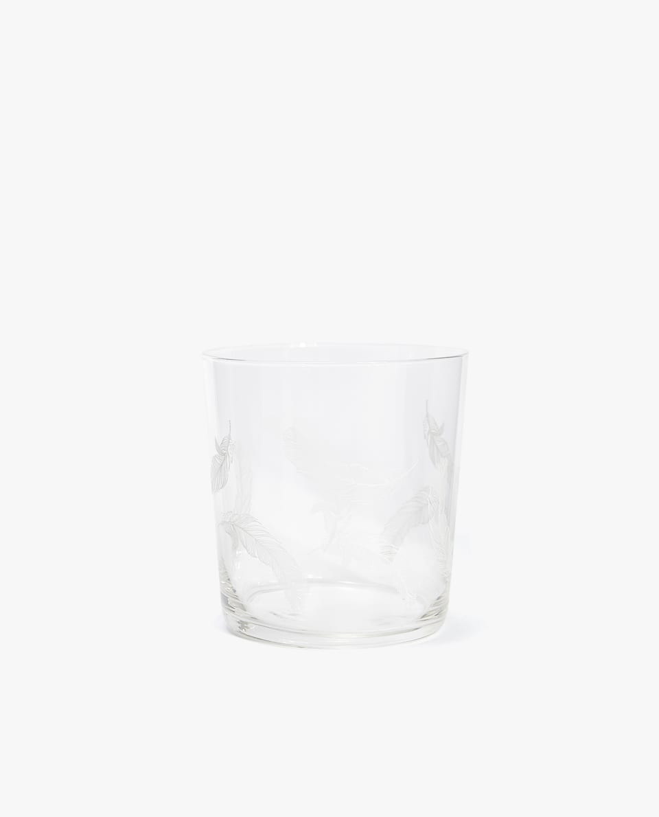 FEATHERS GLASS TUMBLER