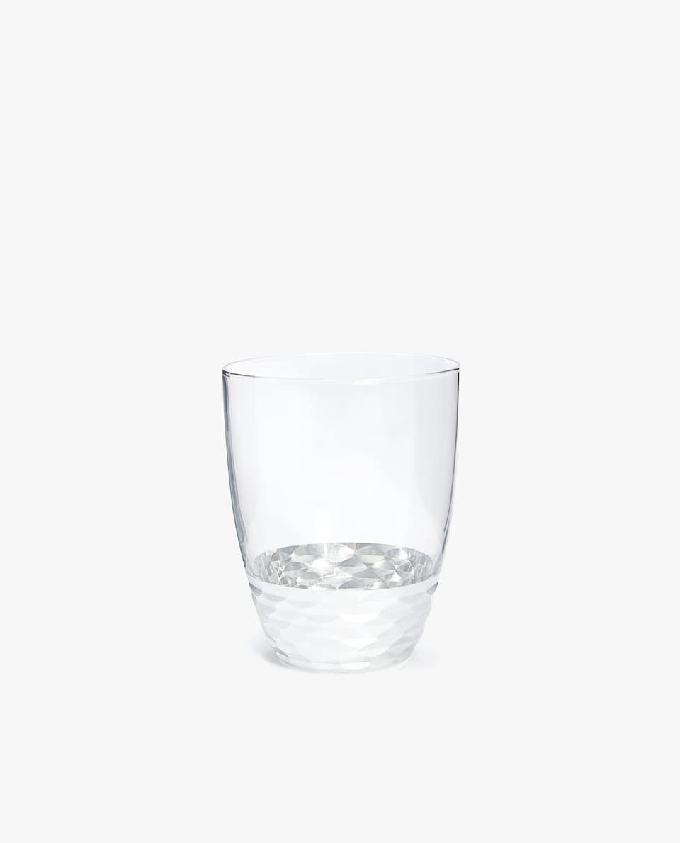 SILVER GLASS TUMBLER