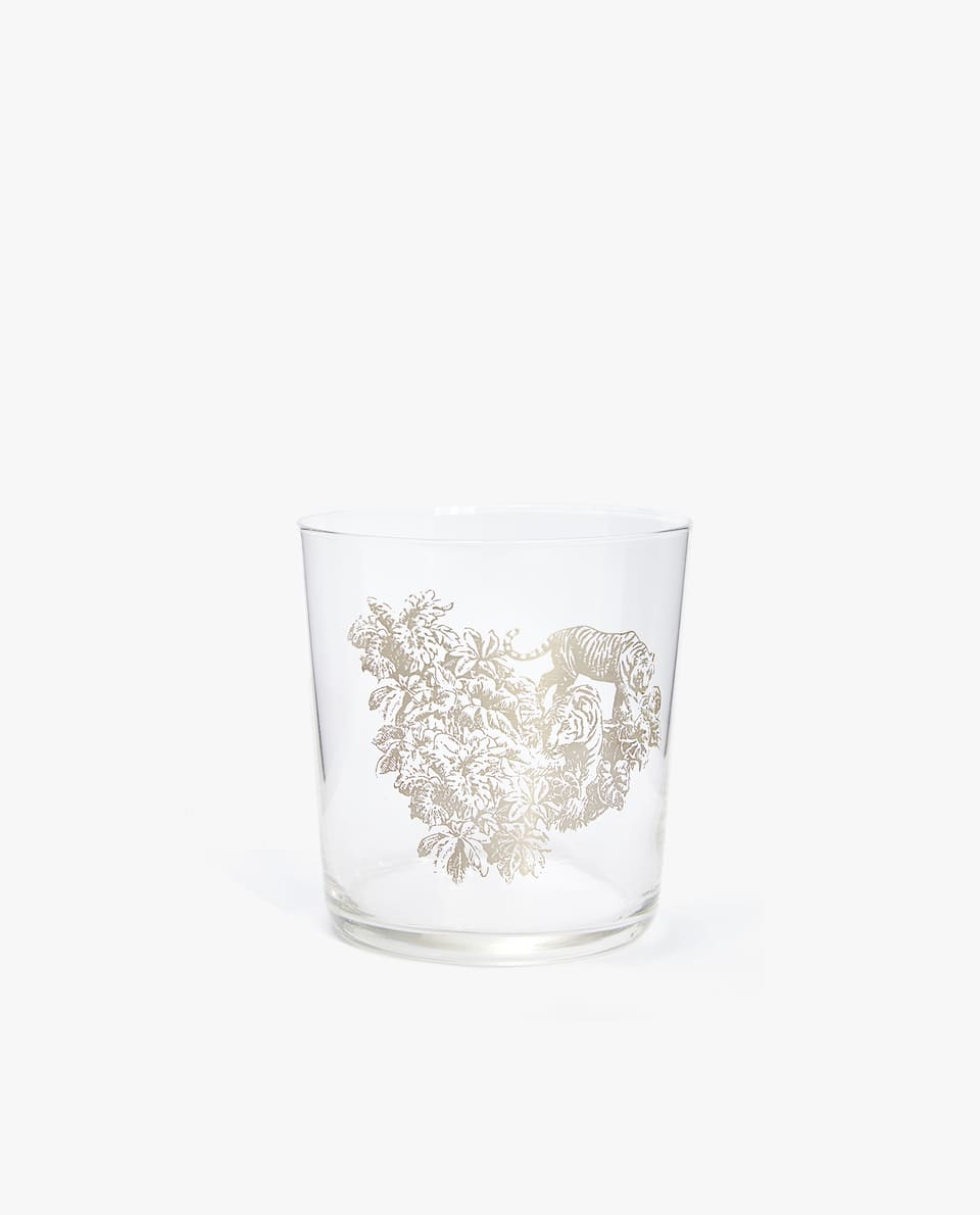 TIGER GLASS TUMBLER