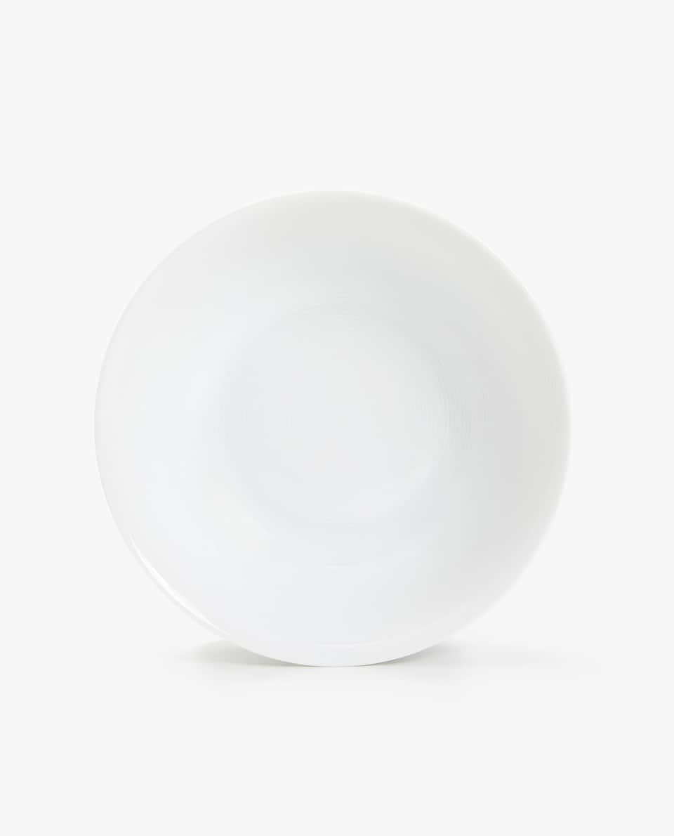 WHITE PORCELAIN SALAD BOWL