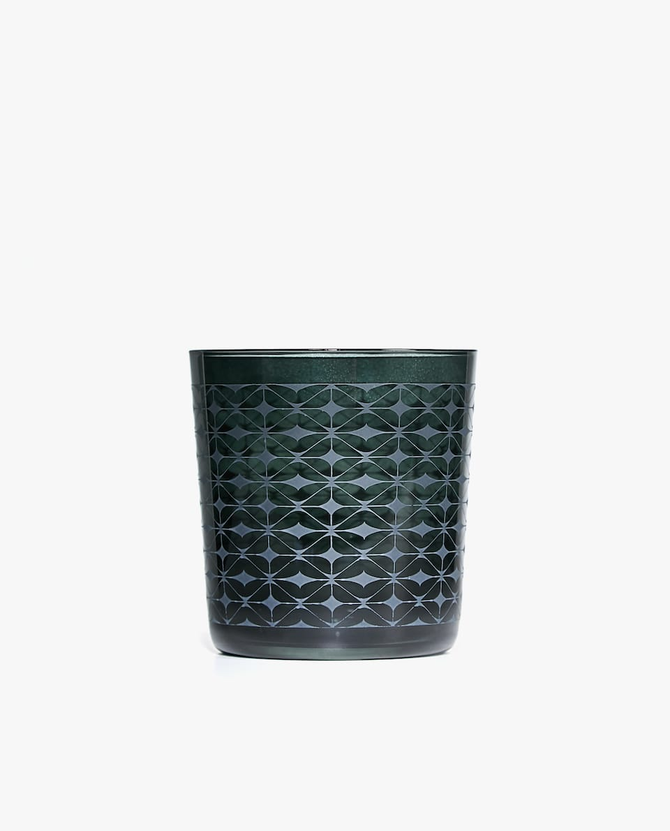 GRID DESIGN GLASS TUMBLER