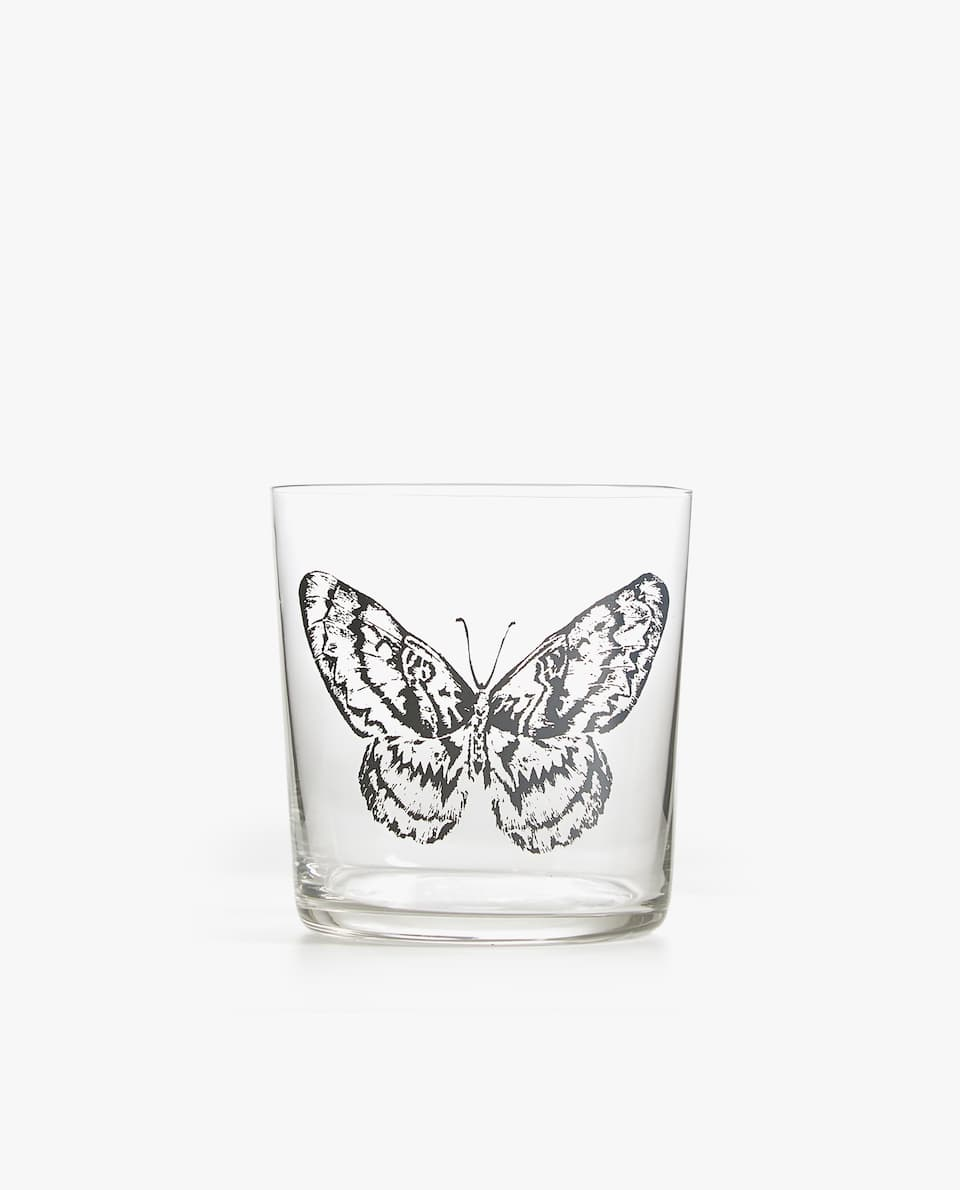 BUTTERFLY GLASS TUMBLER