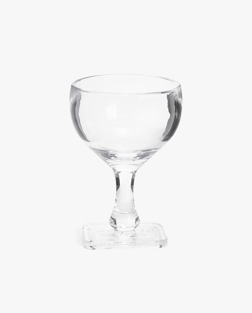 WINE GLASS WITH STAMPED STEM