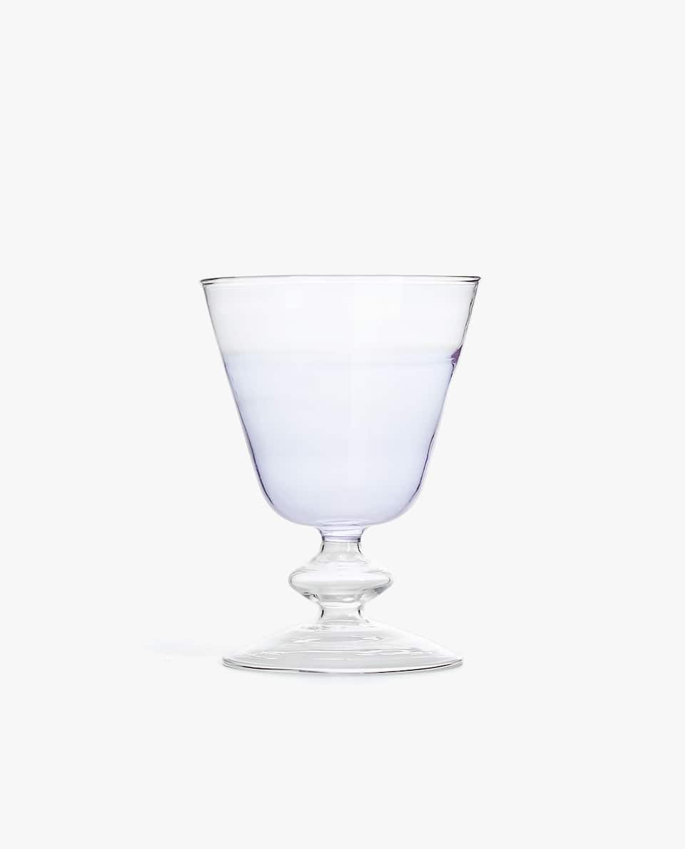 TWO-TONE BOROSILICATE WINE GLASS