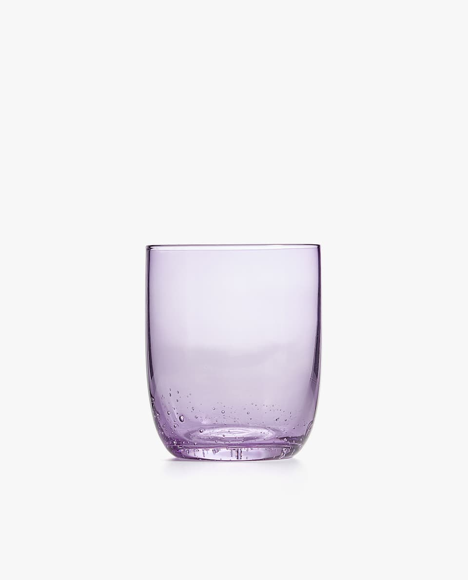 GLASS TUMBLER WITH BUBBLE BASE