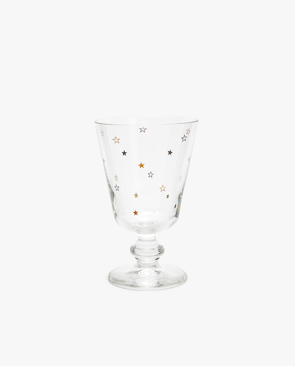 WINE GLASS WITH PRINT DESIGN