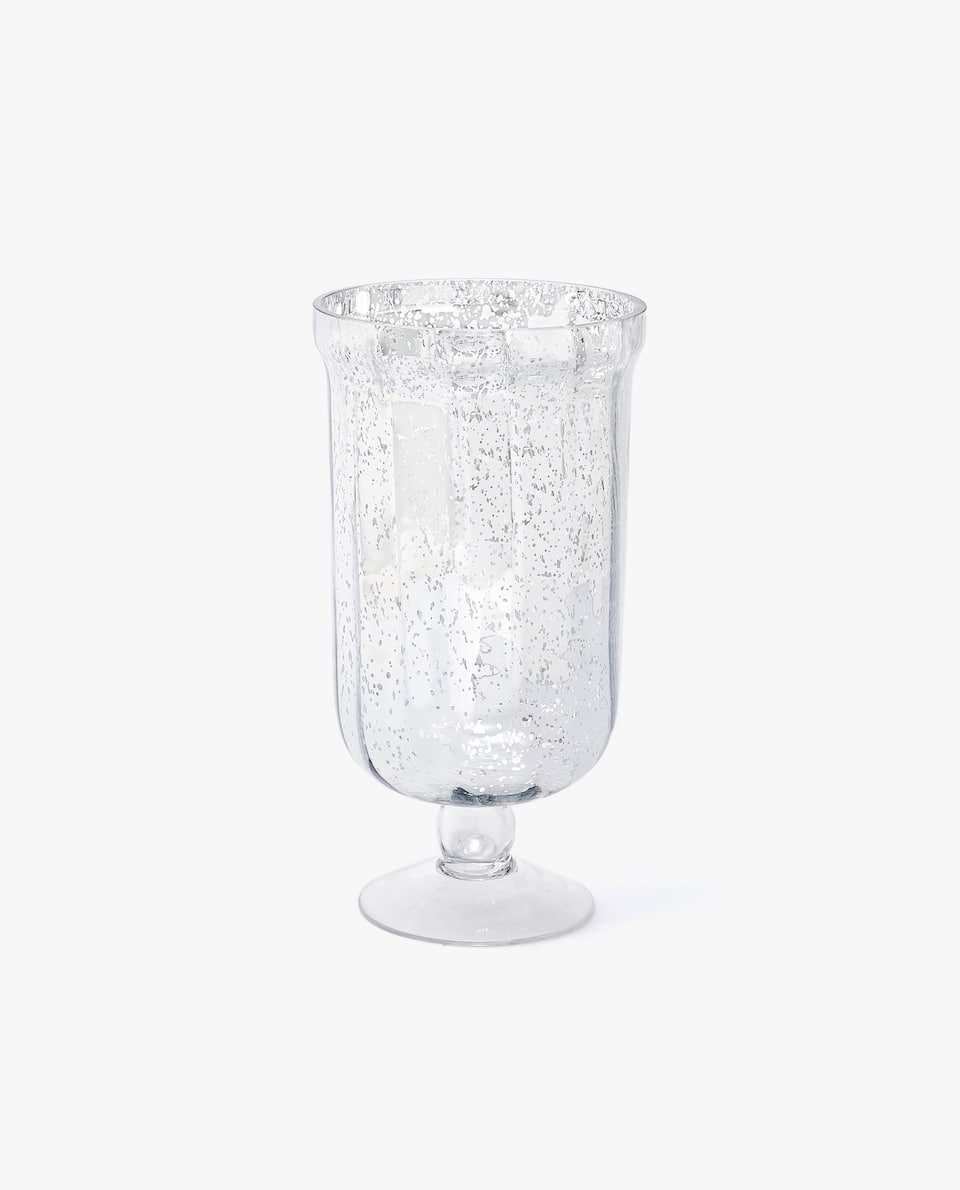 MERCURISED GLASS VASE