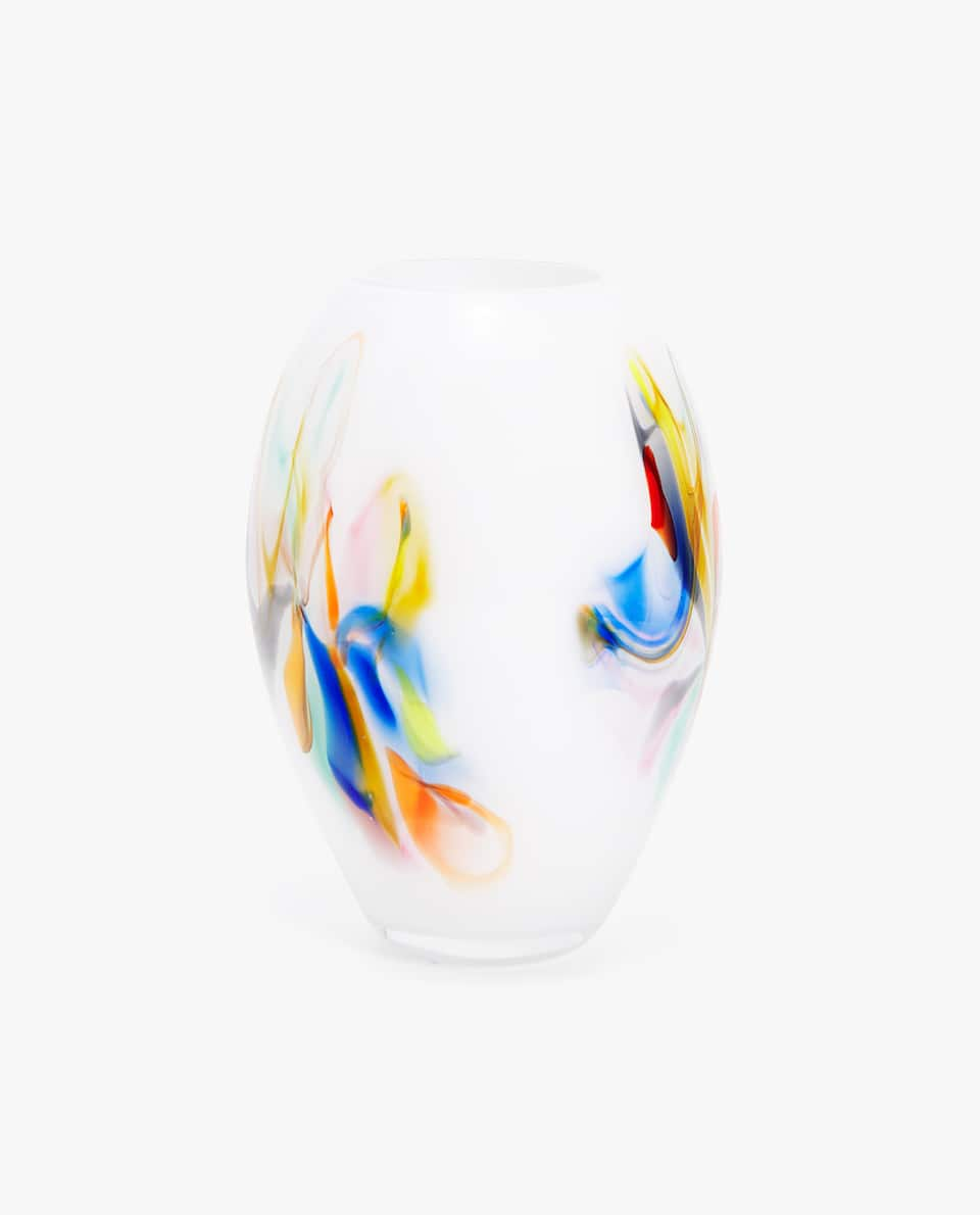 MULTICOLOURED GLASS VASE