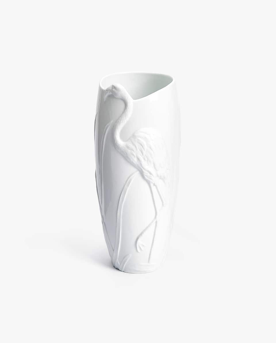 RAISED-DESIGN CERAMIC VASE