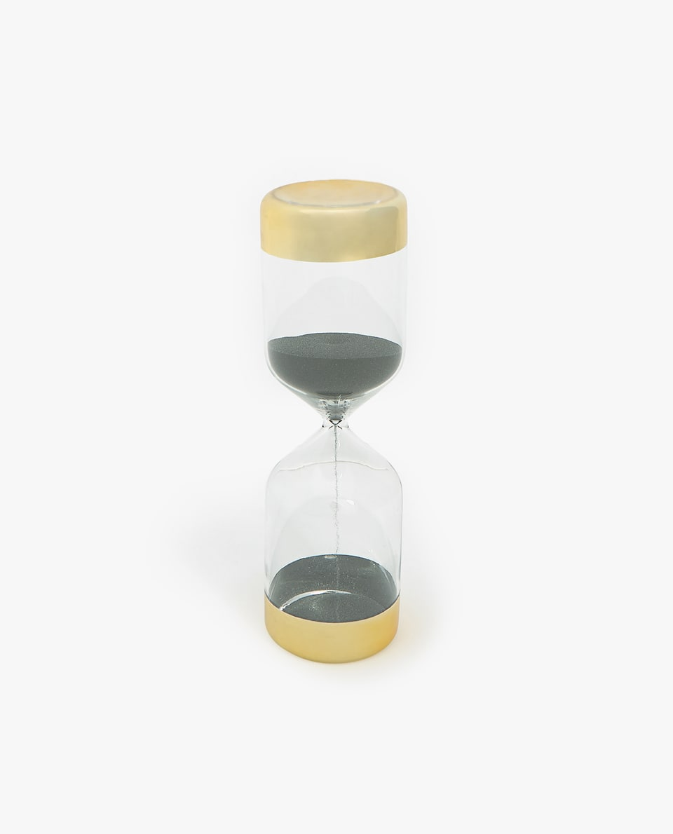 HOURGLASS WITH GOLDEN ENDS