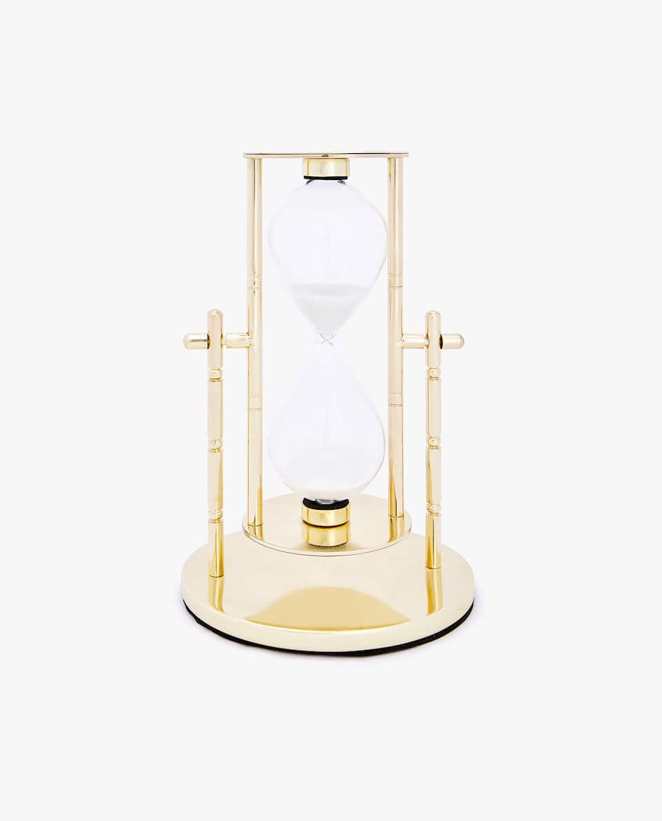 HOURGLASS WITH GOLDEN STAND