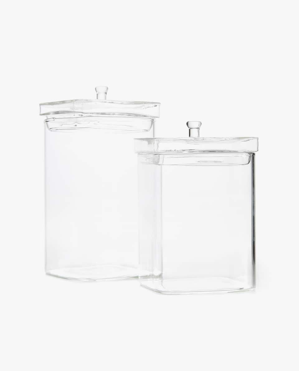 TRANSPARENT BOROSILICATE JAR