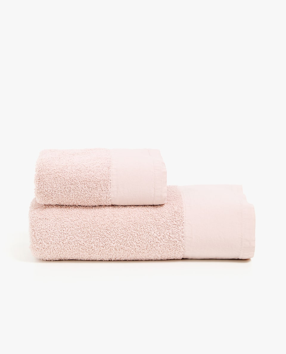 FADED-EFFECT TOWEL