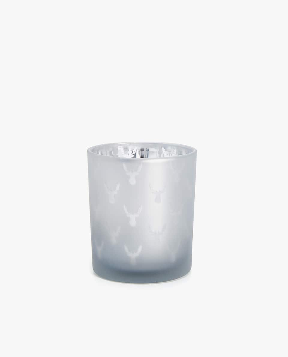 FROSTED-EFFECT TEALIGHT HOLDER