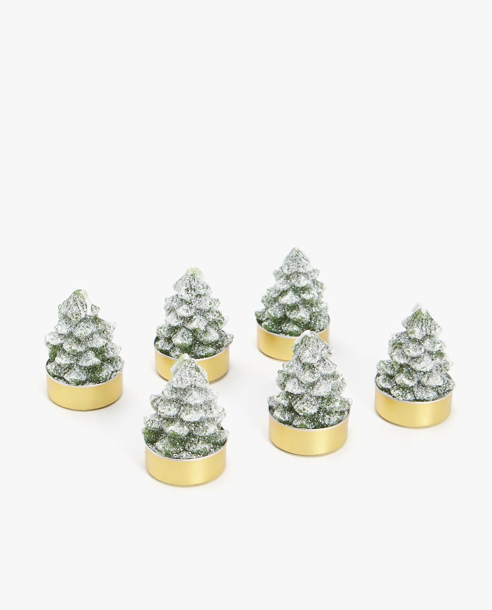 FIR TREE-SHAPED CANDLE (PACK OF 6)