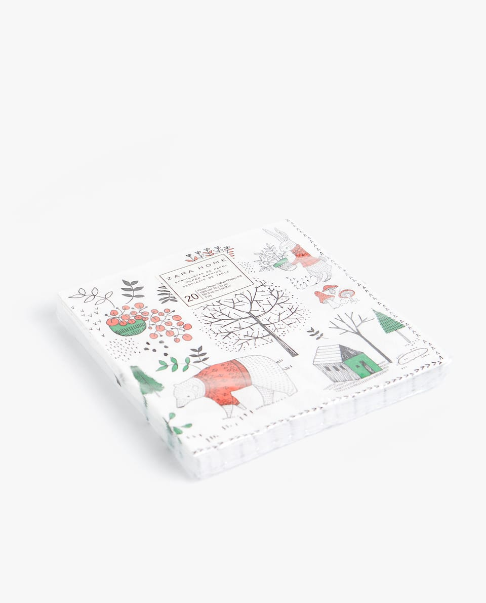 CHRISTMAS PRINT NAPKIN (PACK OF 20)