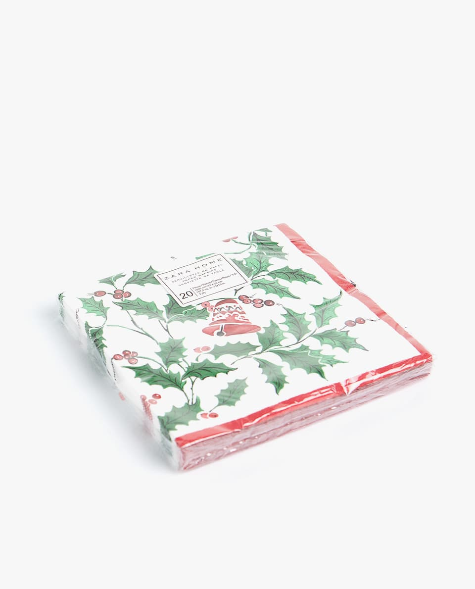 CHRISTMAS PRINT PAPER NAPKINS (PACK OF 20)