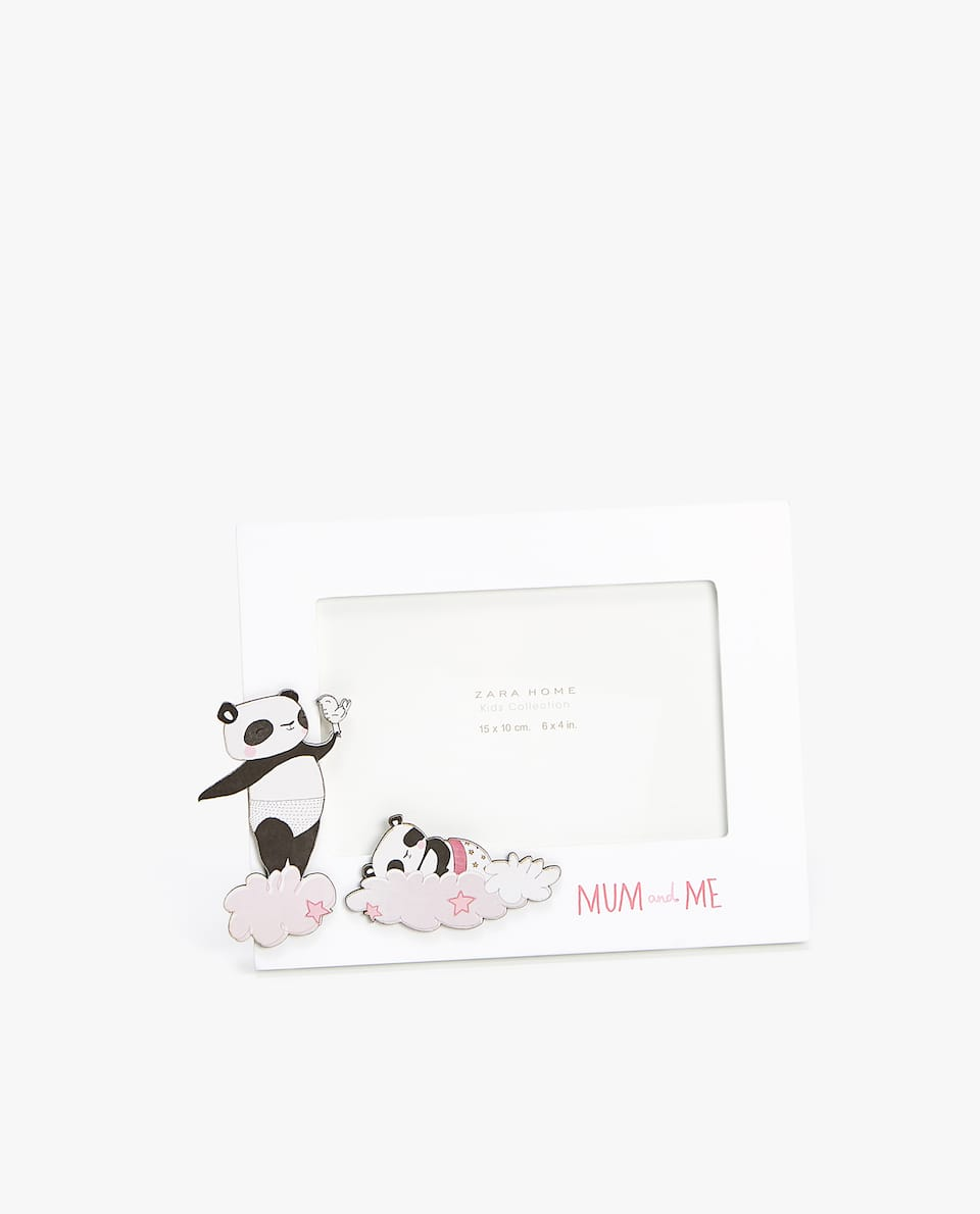 PANDAS FRAME WITH SLOGAN