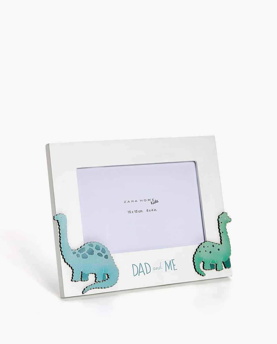 DINOSAURS FRAME WITH SLOGAN