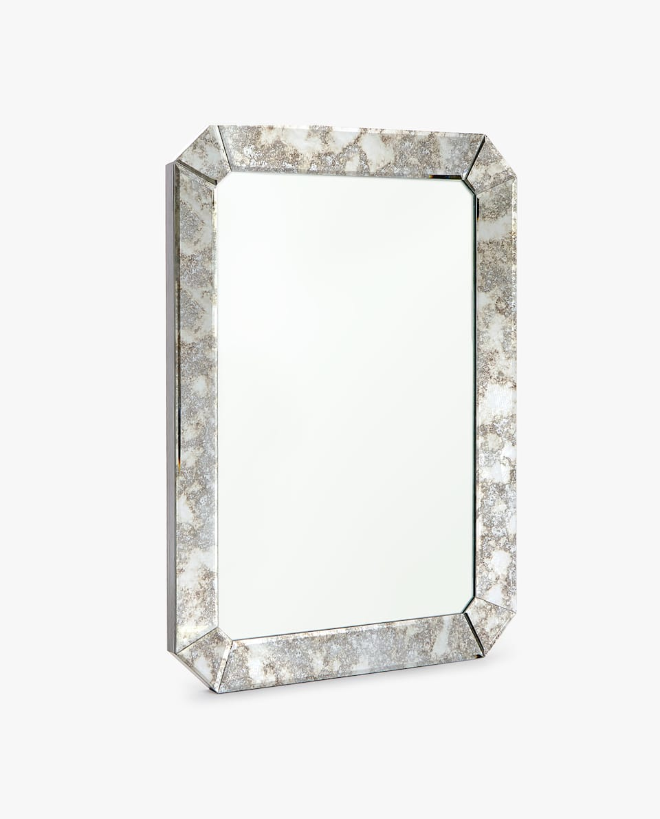 ANTIQUE FINISH FRAME MIRROR