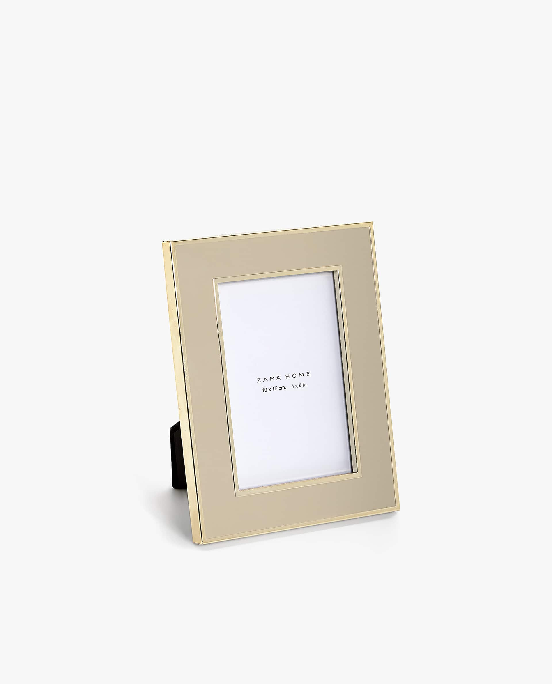 ENAMELLED FRAME WITH GOLD BORDER - PHOTO SIZE 4x6 in. - PHOTO FRAMES ...