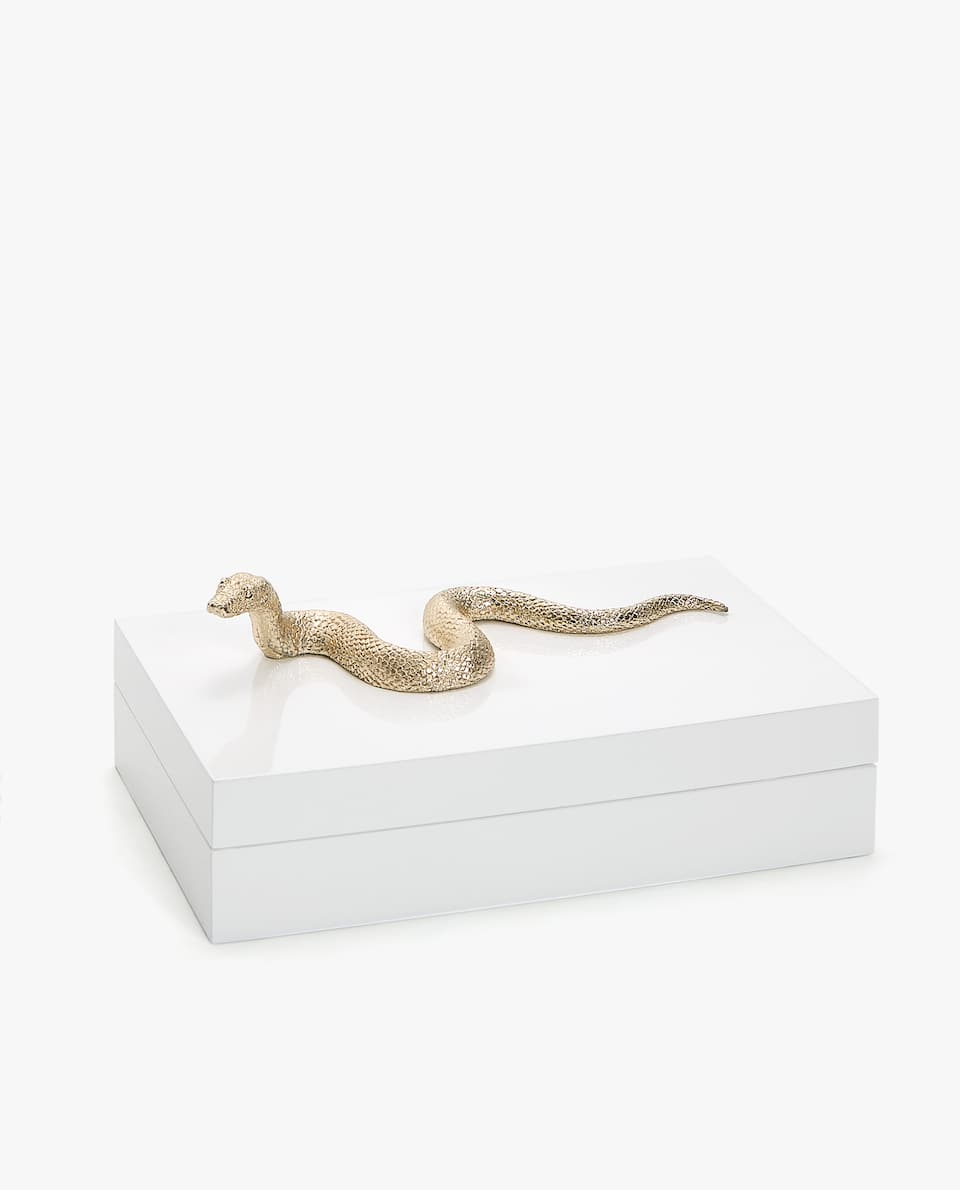 BOX WITH SNAKE ON LID