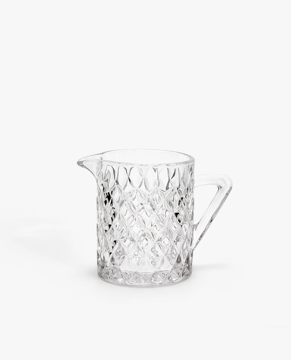 DIAMOND GLASS MILK JUG