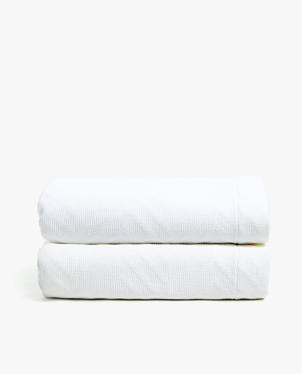 HERRINGBONE COTTON BEDSPREAD