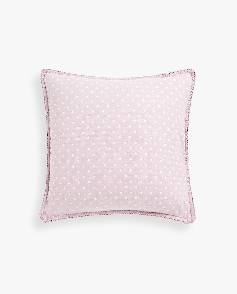 REVERSIBLE POLKA DOT COTTON CUSHION COVER