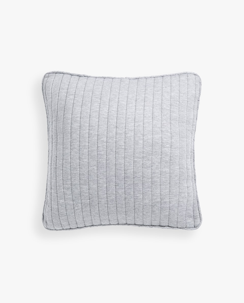 STRIPED FLANNEL CUSHION COVER