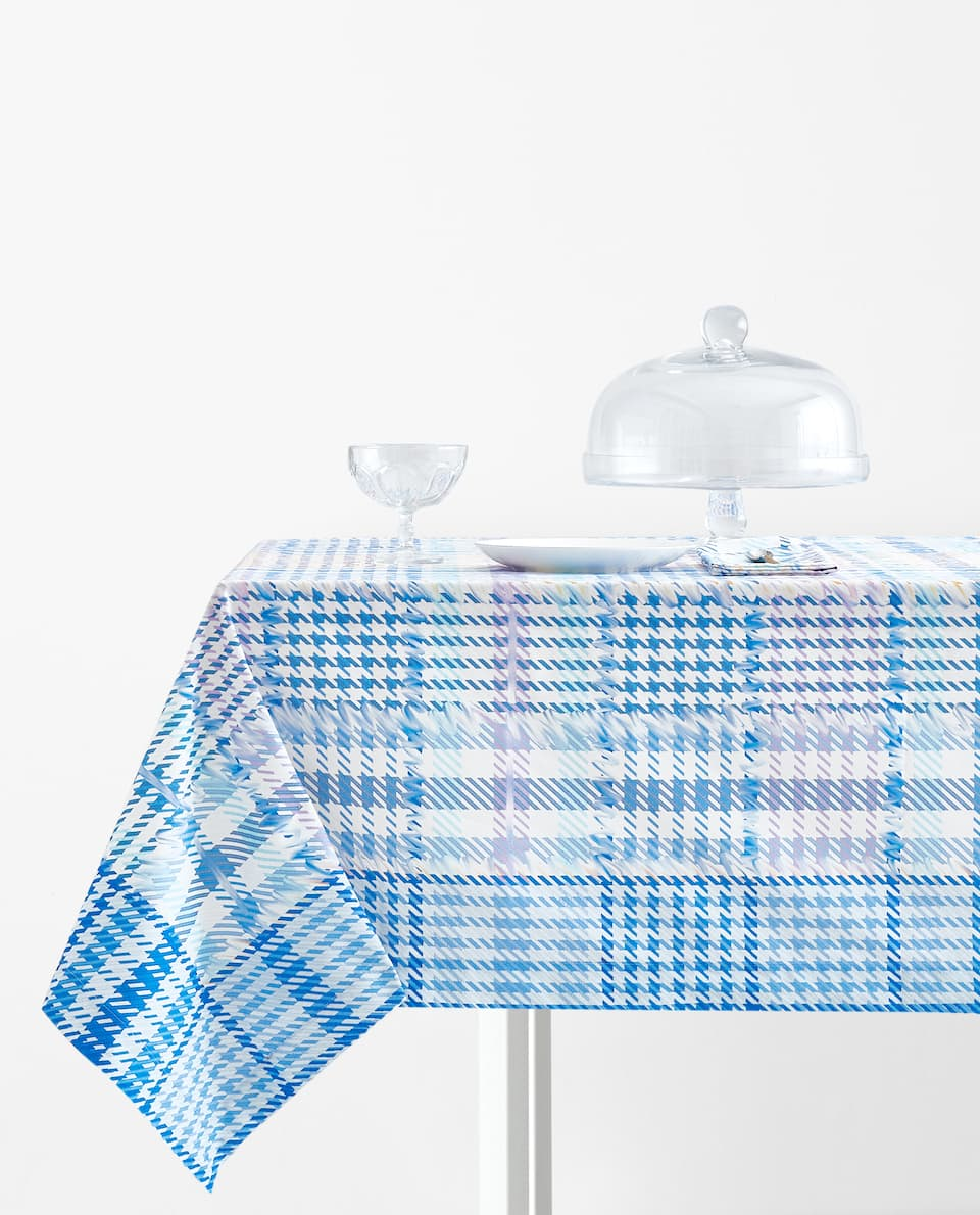 CHECK PRINT TABLECLOTH