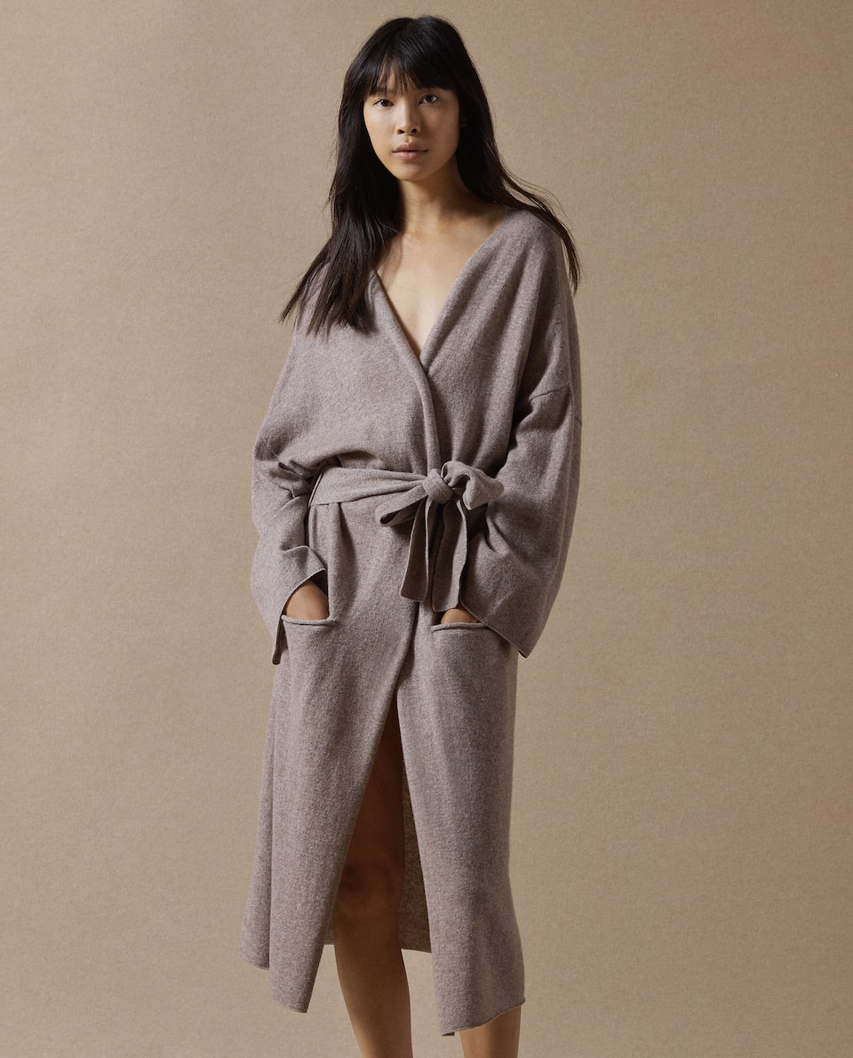 WOOL AND CASHMERE DRESSING GOWN